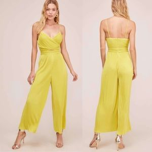 Astr the lable Neon pleated cutout jumpsuit